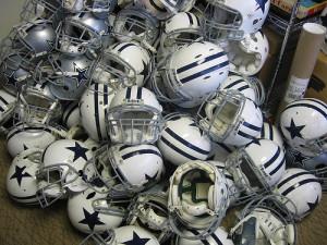 dallas-football-helmets